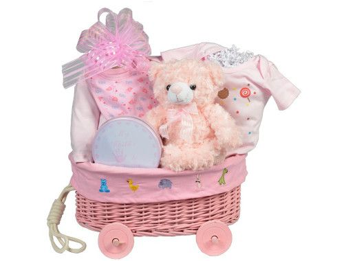 Baby Gift Wrapping Ideas Pinterest : Baby girl gift basket wagon baskets ideas wrap