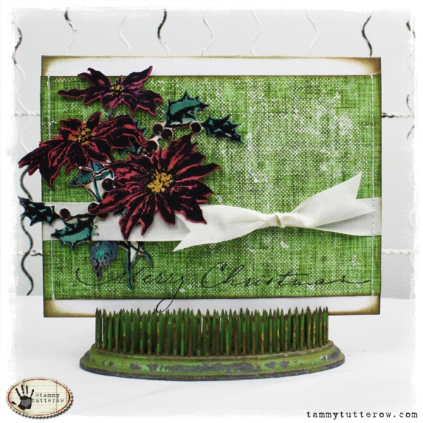 """Tammy Tutterow: Stampers Anonymous """"Christmas Time"""" Stamp set http://tammytutterow.com/2012/12/poinsettia-christmas-card/#comment-7621"""