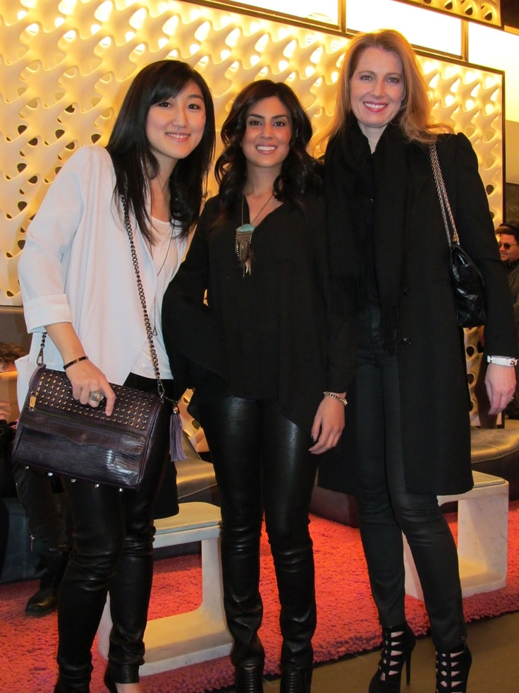 Gail Helmer with Jess, CEO of Polyvore and Nadia, Polyvore Community Manager. xo
