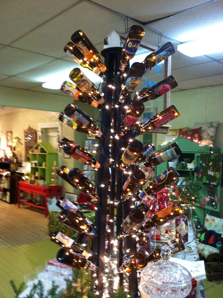 Beer bottle christmas tree for How to make a beer bottle christmas tree