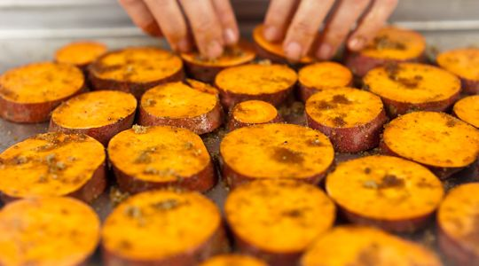 roasted sweet potatoes. | Yummy | Pinterest