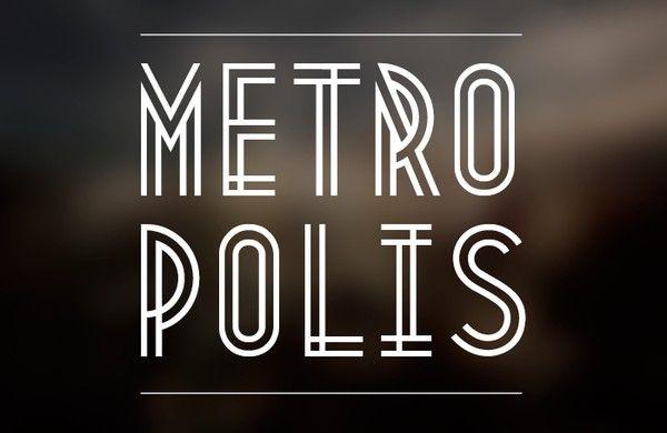 Metropolis 1920 s font