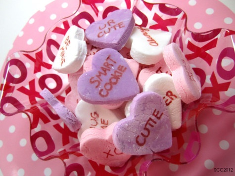 Homemade Conversation Hearts! Making them for Wagz and travelling with ...