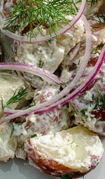 Horseradish Potato Salad | Salad Ideas | Pinterest