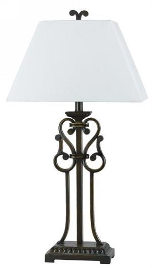 Wrought iron swirl table lamp decorative lamps pinterest