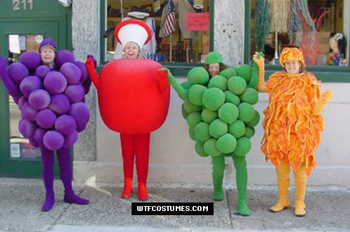 how to make fruit costume from paper