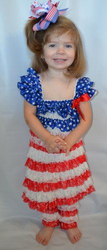 Piece girl s 4th of july lace dress outfit set size 3 4 years