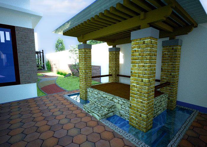 kolam dengan gazebo dalam rumah home interior collection