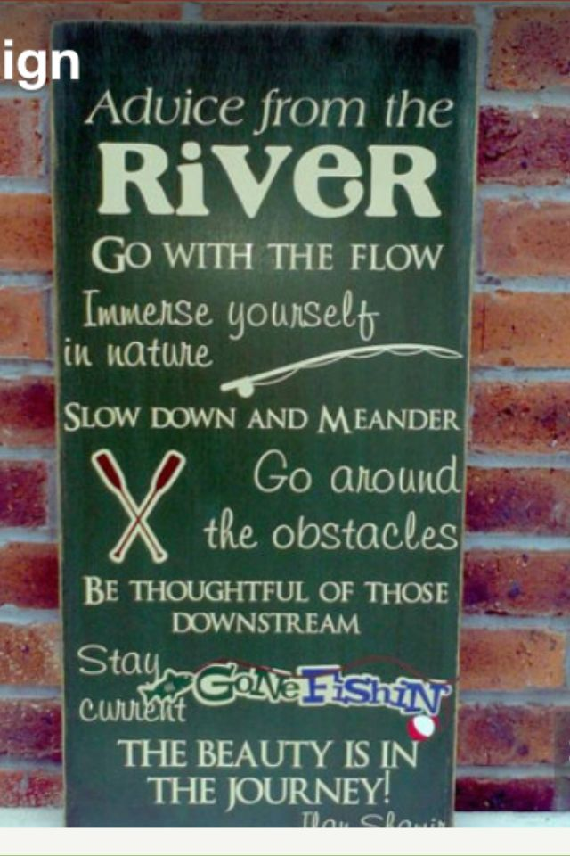 River rules to paint on the front of each step in our stair hall