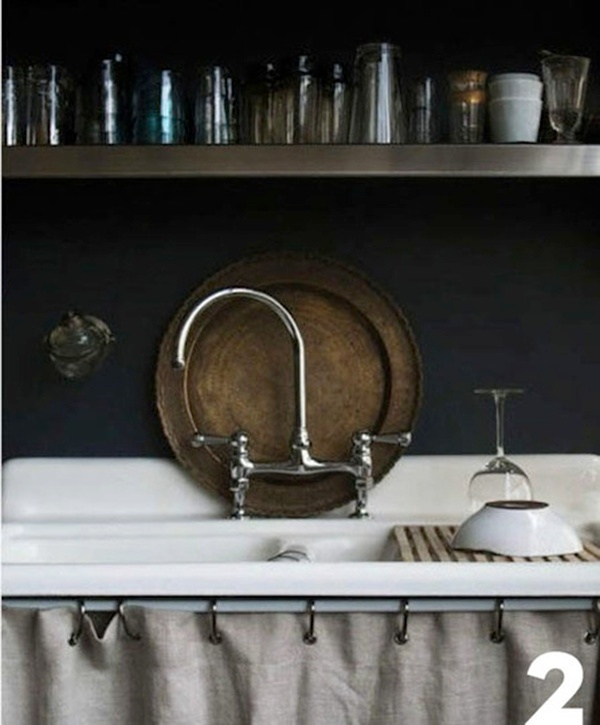 skirted sink Bathroom Pinterest