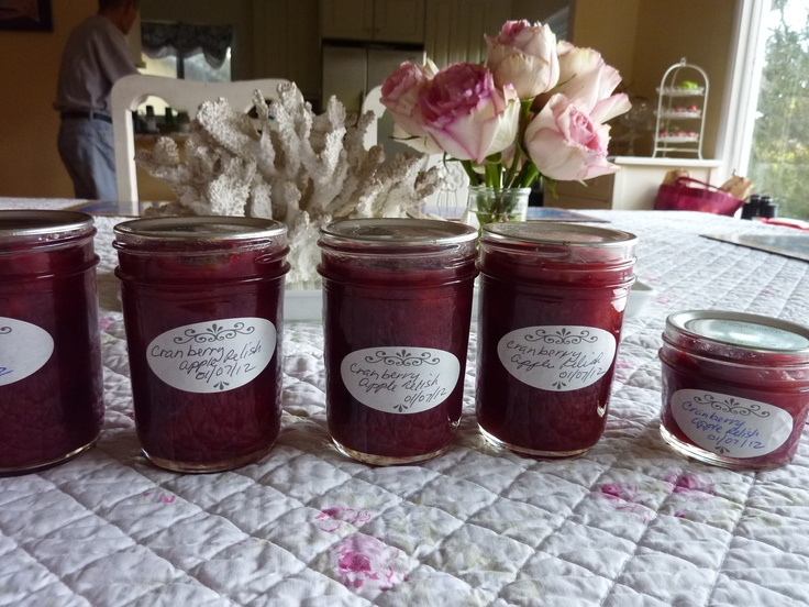 Cranberry apple relish | Canning/Preserving/ Dehydrating/Cheese | Pin ...