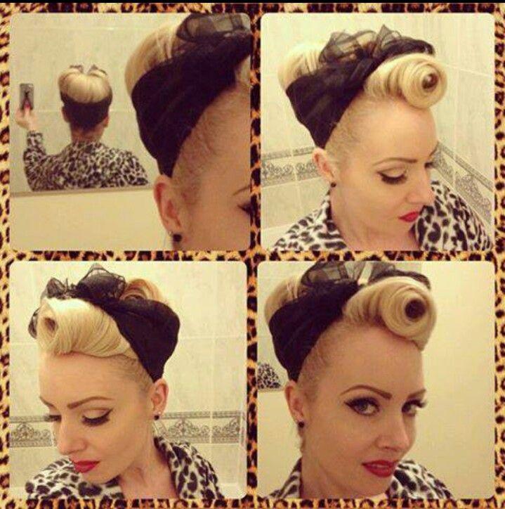 semi mohawk hairstyle : rosie riveter