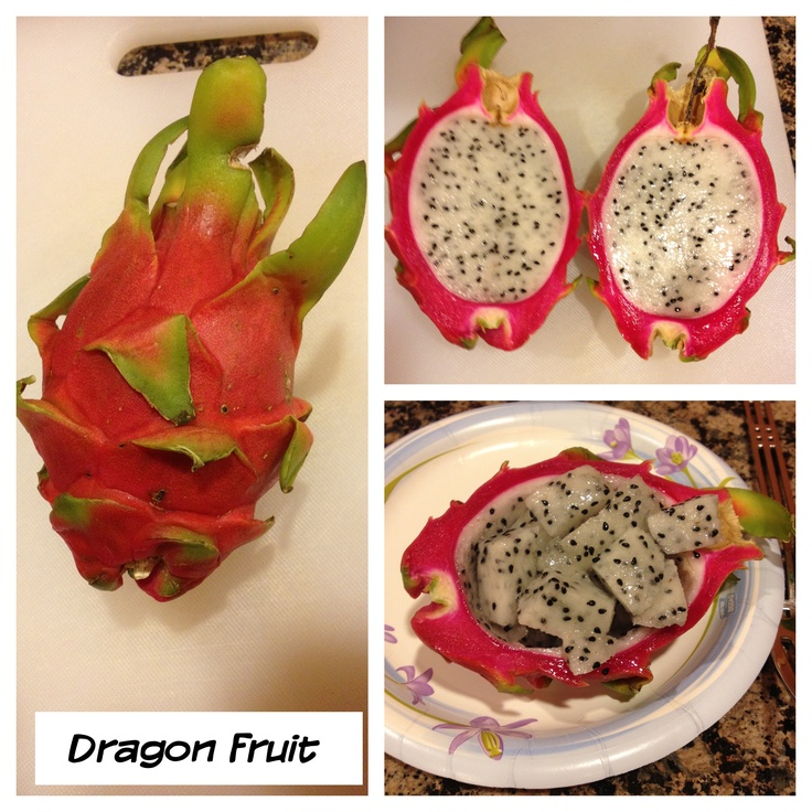 Dragon fruit - tastes like kiwi | Food | Pinterest