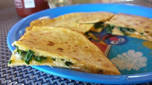 ... Turkey Cheese Quesadilla. Except I might substitute kale in for