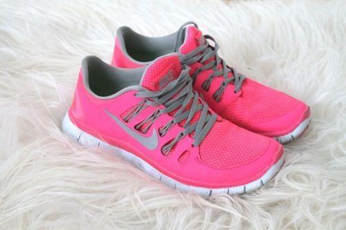 Nike, pink running shoes