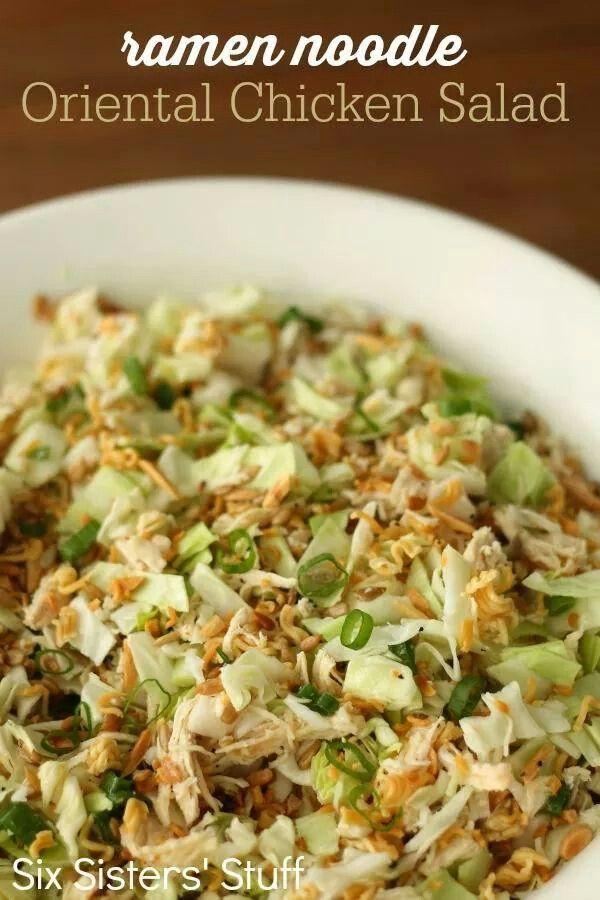 Ramen noodle chicken salad | food | Pinterest