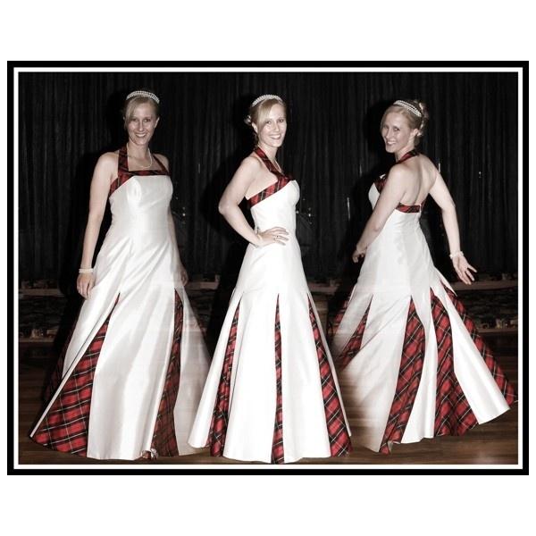 Scottish tartan wedding dress wedding and wedding shower for Scottish wedding dresses with tartan