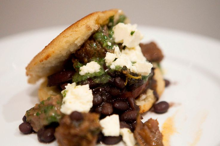 Shredded Beef Arepas with Black Beans and Cilantro Sauce: ngredients ...