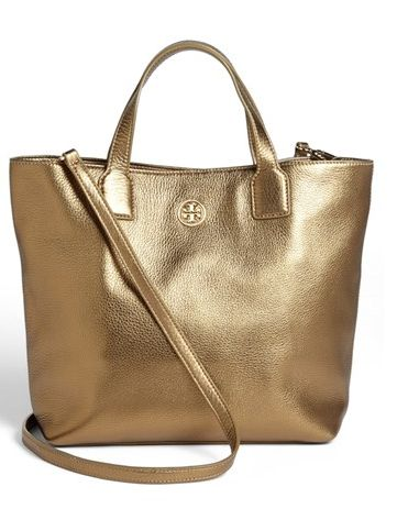 Tory Burch Emmy Crossbody Tote in Gold