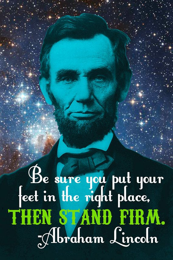 Honest Abe Celestial Art Print Be Sure You Put Your Feet