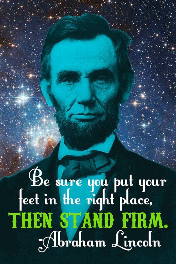 Honest Abe Celestial Art Print Be Sure You Put Your Feet