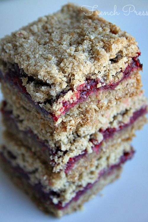 Raspberry Crumb Bars - Heather's French Press