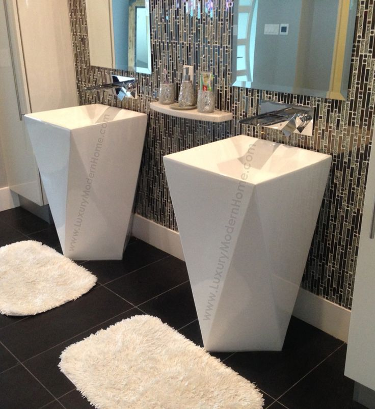 Pin by Luxury Modern Home on Pedestal Sinks Modern Bathroom Pintere ...