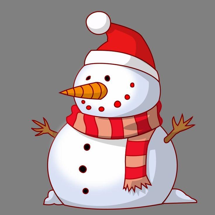 SVG Vector: Merry Christmas Snowman Clipart