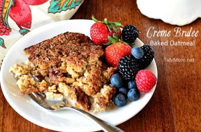 Creme Brulee Baked Oatmeal -- trick your kids into eating oatmeal for ...