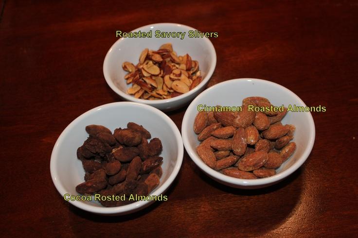 Cocoa Almonds, Roasted Savory Almonds, & Cinnamon Almonds. Told you I ...