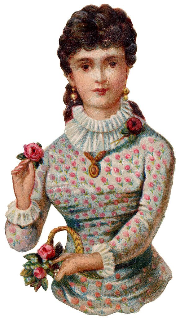 Scrap Victorian Lady —  (581×1038)
