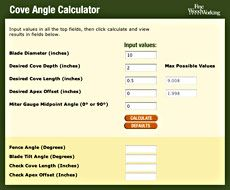 Cove Angle Calculator  Fine Woodworking Article Really great free software!!!! u00bb Amazing