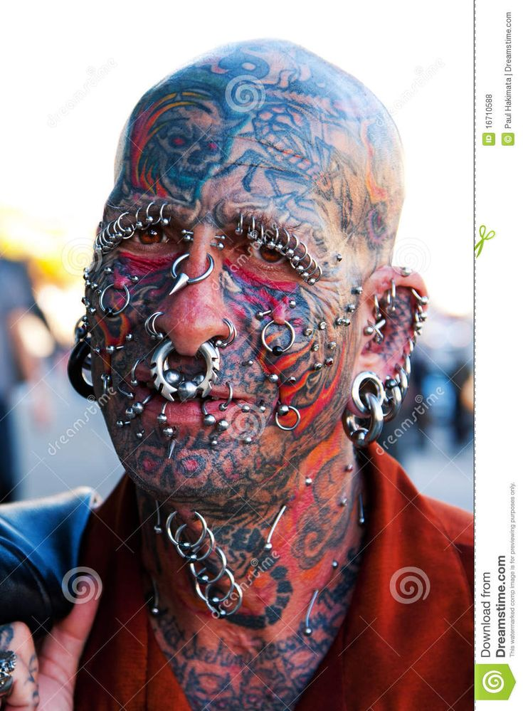 Face piercing tattooed piercings pinterest for Tattoos and piercing