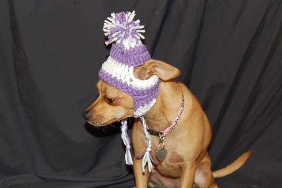 Crochet Dog Earflap Hat Pattern : Instant Download - Crochet Pattern Earflap Dog hat Small ...