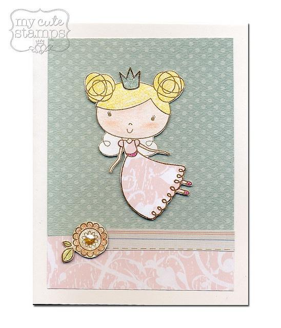 cute  #invitation  #kid  #gril  #princess  #fair  #paper  #texture
