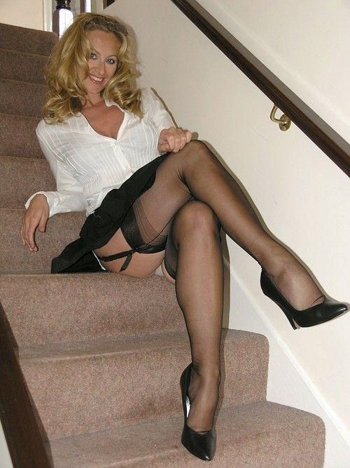 wife cum in cock her heels with lace