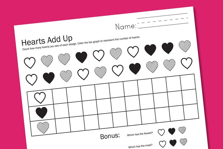 Graphing Valentine Worksheets free | February | Pinterest
