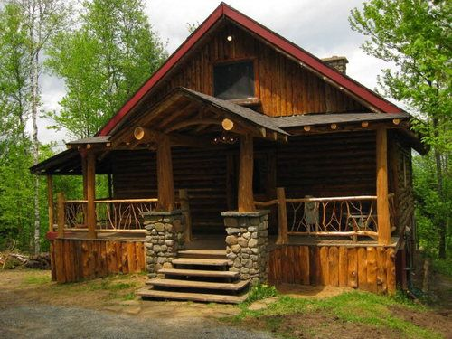 craftsman style log cabin home pinterest