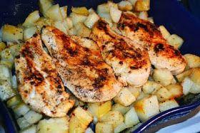 LEBANESE RECIPES: Garlic Chicken and Potatoes Recipe