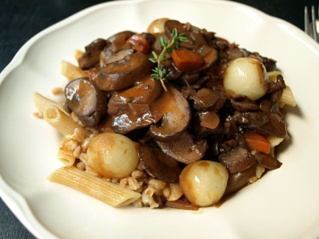 Mushroom Bourguignon - Vegan | Food | Pinterest