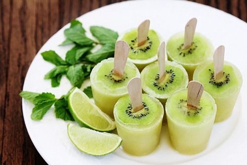 Sweet n' Sour Lime Lemonade Ice Pop & Tangy Kiwi Lime Popsicles ...