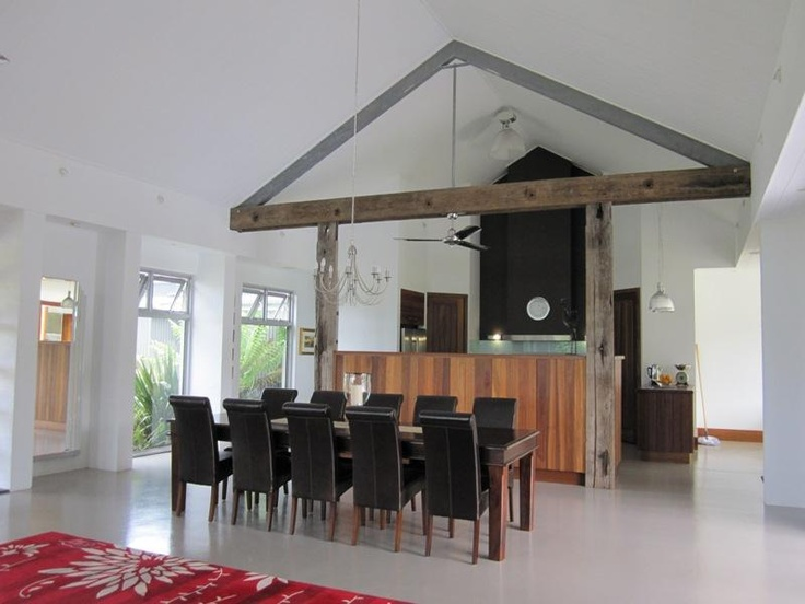 Integrate Truss Into Kitchen Victorian Cottage