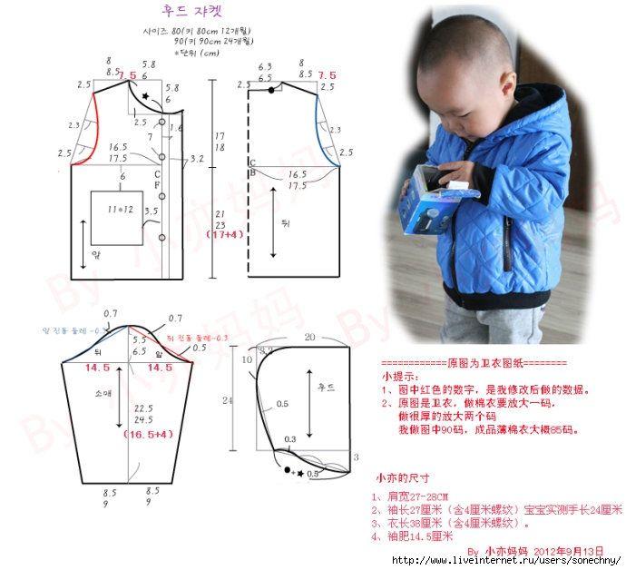Как сделать выкройки для ребенка 844