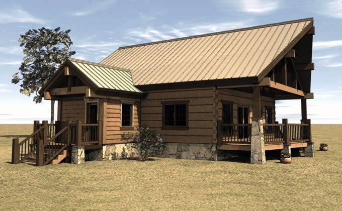 Cabin house plan with covered porch up north dreamin Covered porch house plans
