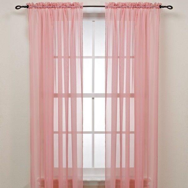 LICHTENBERG & COMPANY, INC. Pink Rod Pocket Sheer Window Curtain ...