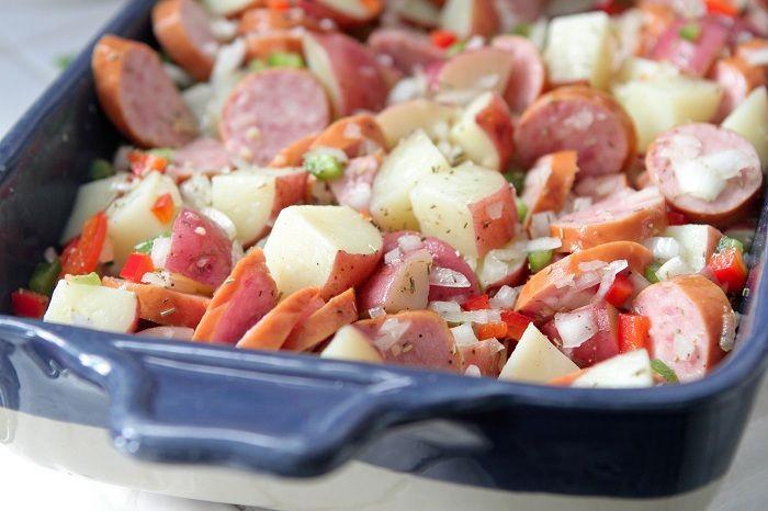 Hillshire Farm Sausage and Potato Bake. Dinner!