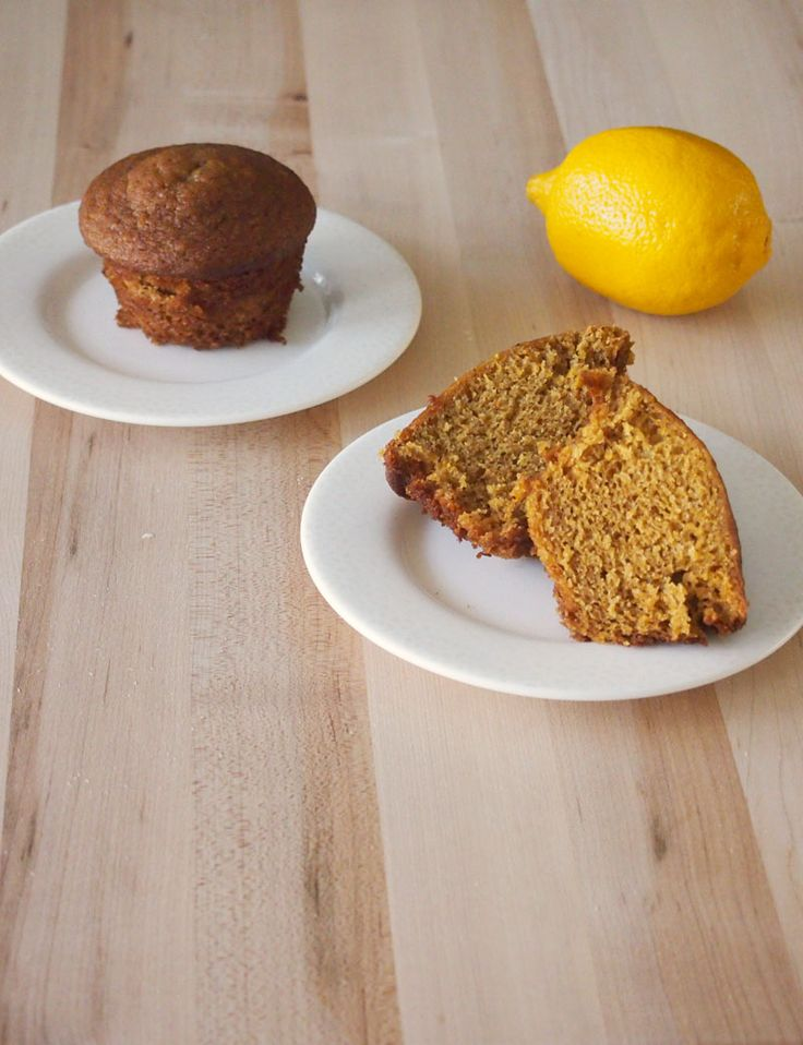 Lemon Gingerbread Muffins #MuffinMonday from Pies and Plots