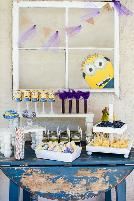 Despicable Me Party!  Super CUTE!