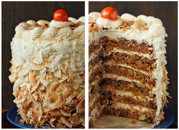 Carrot Cake with Coconut-Cream Cheese Swiss Meringue Buttercream https ...