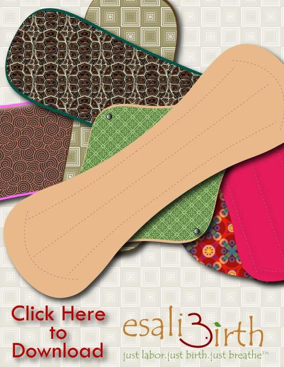 Period liner, regular, heavy, overnight, postpartum pad free patterns - Cloth Pads - Esali Birth